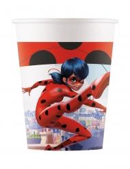 8 Bicchieri in cartone compostabile Miraculous Ladybug™ 200 ml