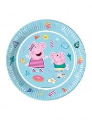 8 piatti in cartoncino compostabile Peppa Pig™