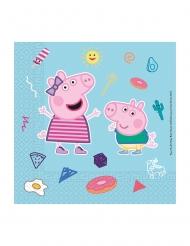 20 Tovaglioli in carta compostabile Peppa Pig™ 33 x 33 cm