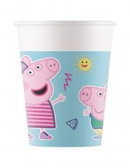 8 bicchieri di cartone Peppa Pig™ compostabili