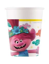 8 Bicchieri in cartone Trolls World tour™ 200 ml