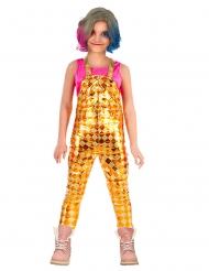 Costume salopette a losanghe bambina