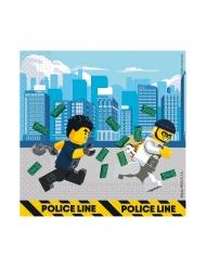 20 Tovaglioli in carta FSC® Lego City™ 33 cm