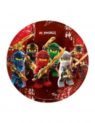 8 Piatti in cartone FSC® Lego Ninjago™ 23 cm