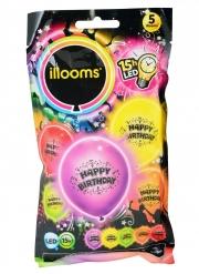 5 Palloncini led Happy Birthday Illoms™