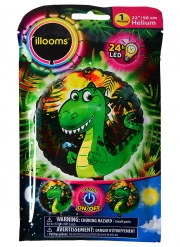 Palloncino alluminio Drago led Illooms™ 50 cm