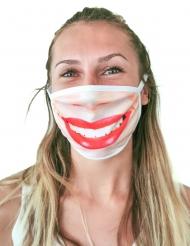 Mascherina bocca con rossetto adulto