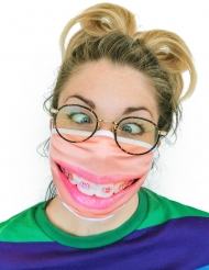 Mascherina con apparecchio dentale adulto