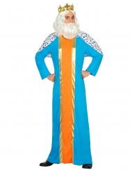 Costume da Re Magio azzurro per adulto
