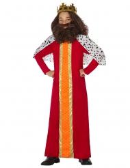 Costume re magio rosso per bambino