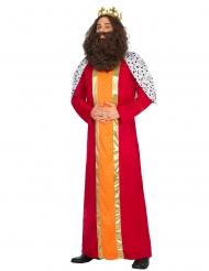 Costume da Re Magio rosso per adulto