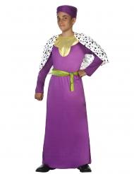Costume da Re Magio viola per bambino