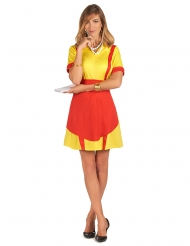 Costume cameriera tavola calda USA per donna