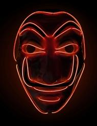 Maschera rapinatore led rosso adulto