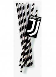 12 Cannucce Juventus™ in cartone 19,5 cm