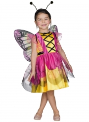 Costume da farfalla rosa e giallo per bambina