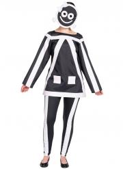 Costume stickman fosforescente donna
