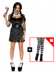 Costume da sexy tenebrosa per donna con calze omaggio