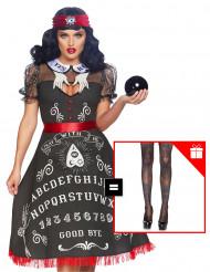 Costume da zingara veggente per donna con calze omaggio