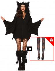 Costume da pipistrello per donna con calze omaggio