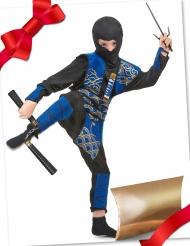 Cofanetto regalo travestimento e accessori da ninja blu per bambino
