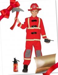 Cofanetto regalo travestimento e accessori da pompiere per bambino