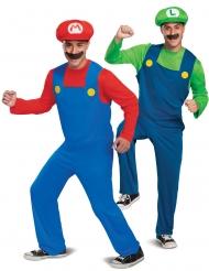 Costume di coppia Mario e Luigi per adulto