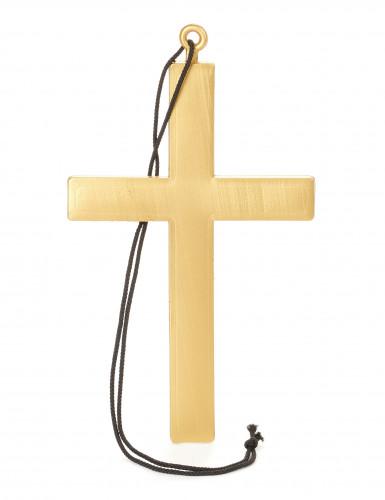 Croce da monaco color oro