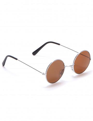 Occhiali rotondi da hippy per adulti-3