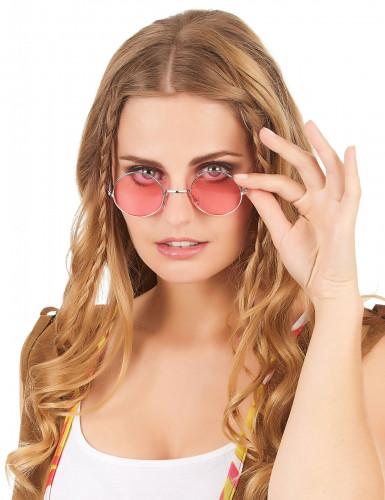 Occhiali rotondi da hippy per adulti-5