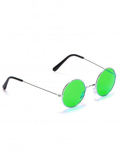 Occhiali rotondi da hippy per adulti-4