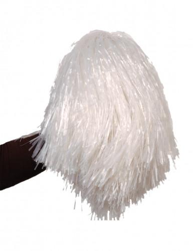Pompon bianco metallizzato