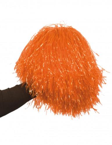 Pompon arancione metallizzato