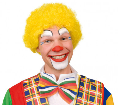 Parrucca afro gialla da clown adulti