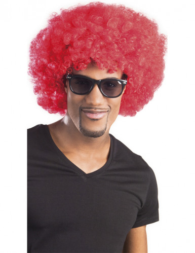 Parrucca afro disco clown rossa adulti