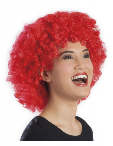 Parrucca afro disco clown rossa adulti-1