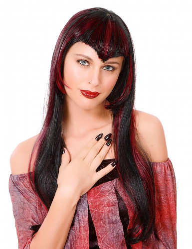 Parrucca da vampiro rossa donna