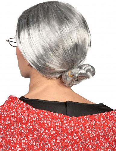 Parrucca da nonna cappelli bianchi donna-1