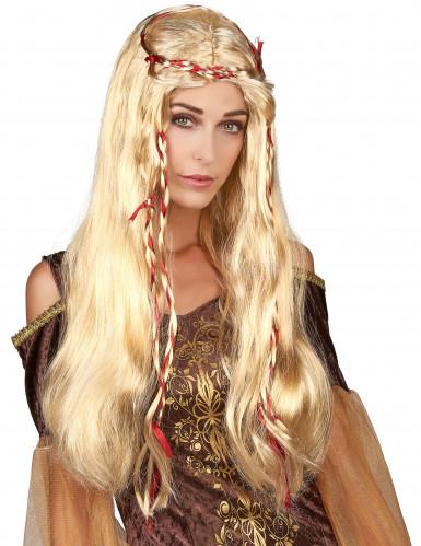 Parrucca medievale bionda donna