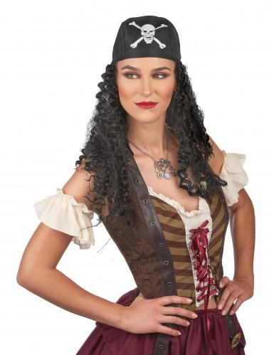 Parrucca da pirata capelli ricci-1