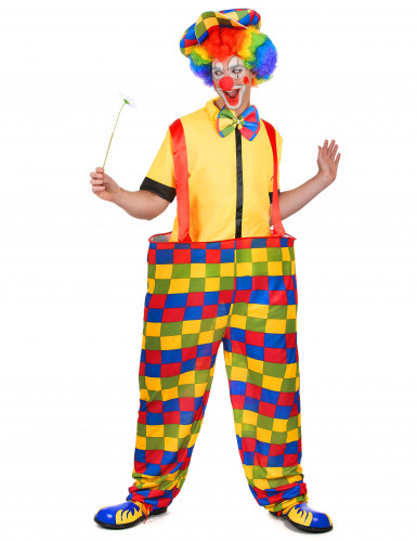 Costume da clown uomo multicolore