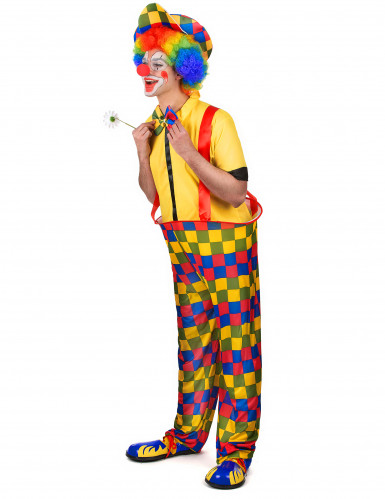 Costume da clown uomo multicolore-1
