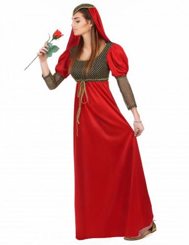 Costume medievale da dama rossa per donna-2