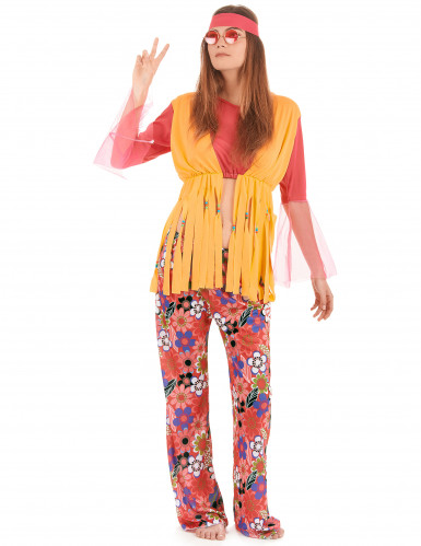 Costume hippy fiori e frange donna