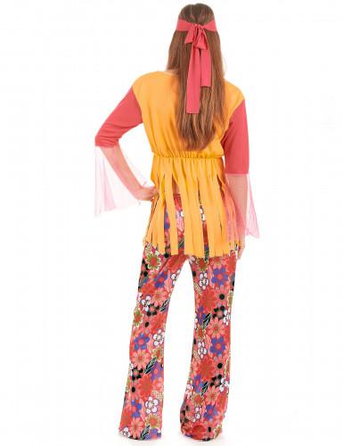 Costume hippy fiori e frange donna-2