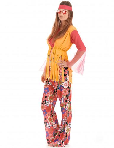 Costume hippy fiori e frange donna-1