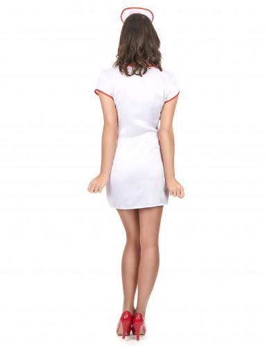 Costume con zip da infermiera sexy donna-2