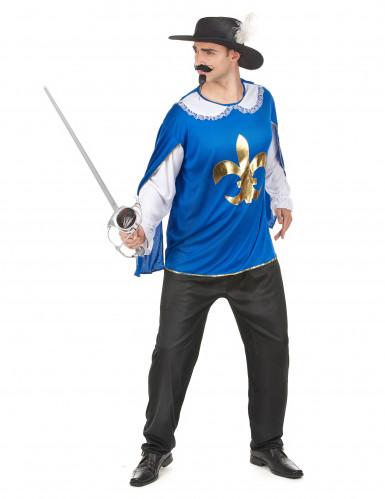 Costume moschettiere blu per uomo-1