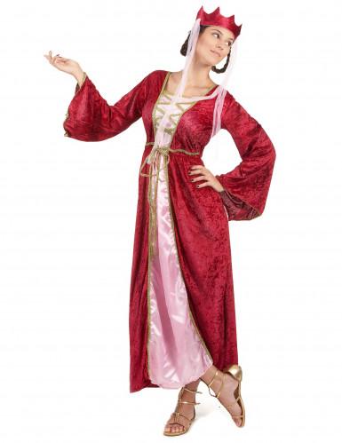 Costume regina medievale donna con corona
