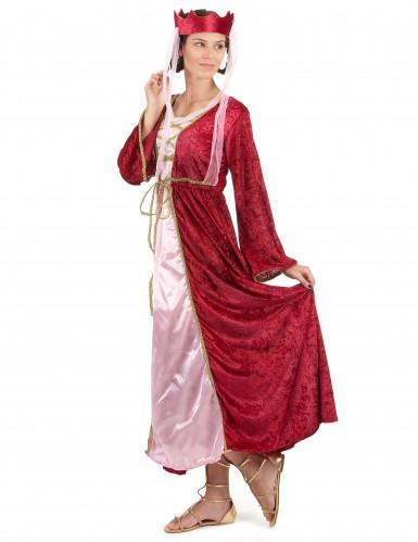 Costume regina medievale donna con corona-1